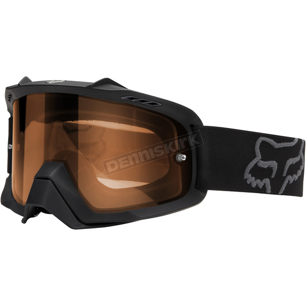 Fox Matte Black/Orange Air Space Enduro Dual Lens Goggle - 09951-902-OS