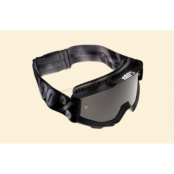 100% Black/Gray OTG Superstition Goggles w/Anti-fog Smoke Lens - 50205-118-01