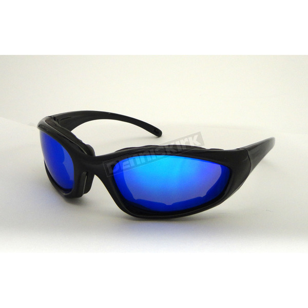 Chapel Black Performance C-22 Sunglasses w/Blue Lens - C-22BK/BR