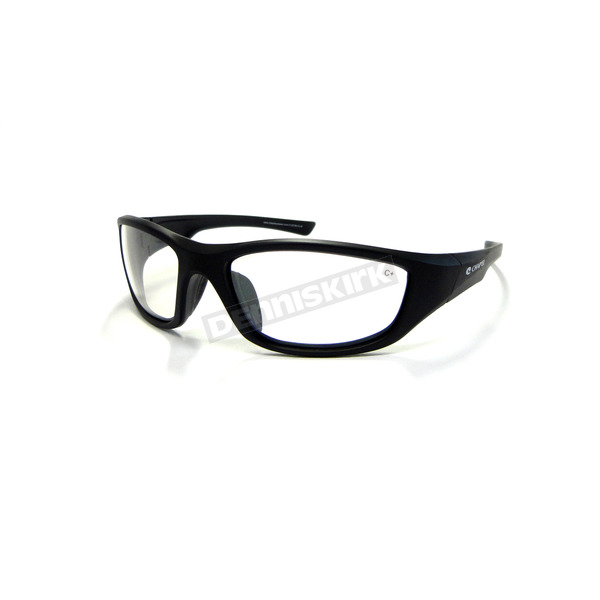 Chapel Black Safety C-125 Sunglasses w/Clear Lens - C-125BK/CL