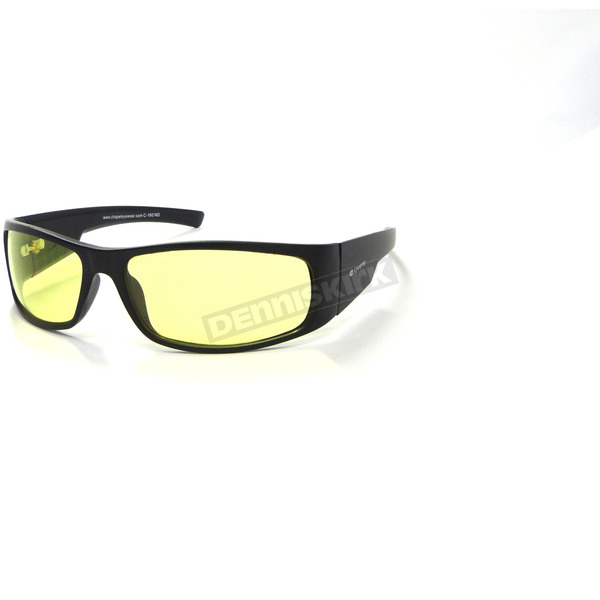 Chapel Black Safety C-160 Sunglasses w/Night Driving Lens - C-160BK/ND