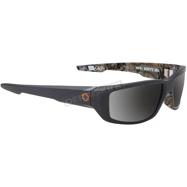 Spy Optic Black Decoy Dirty Mo Sunglasses w/Happy Bronze Polar/Black Mirror Lens - 670937038832