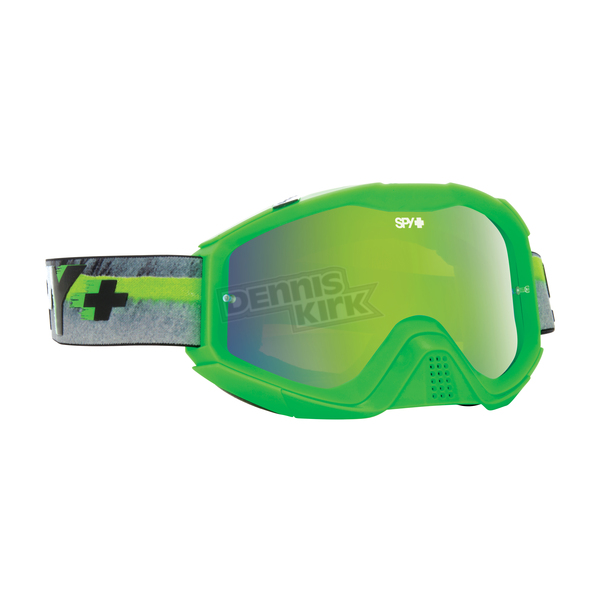 Spy Optic Pinner Green Klutch MX Goggles w/Smoke/Green Spectra Lens - 322017872857