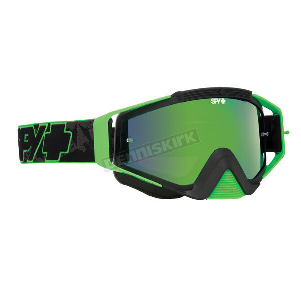 Spy Optic Green Highlighter Omen MX Goggles w/Smoke/Green Spectra Lens - 323129813857