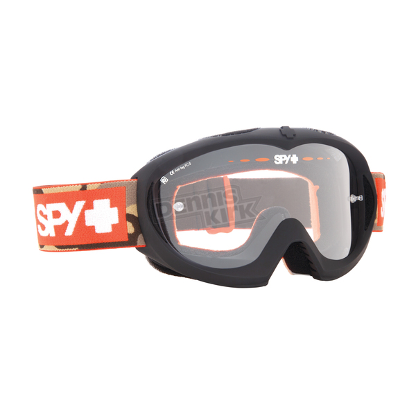 Spy Optic Orange/Camo Hide and Seek Targa Mini MX Goggles w/Clear - 320390035097