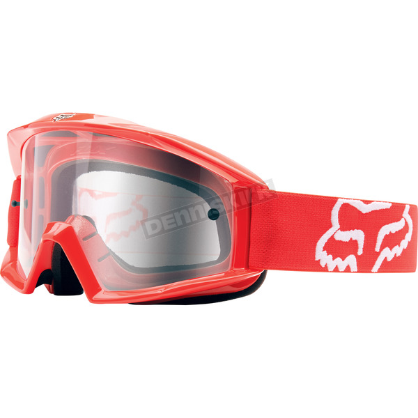 Fox Red Main Goggles w/Clear Lens - 12364-902-OS