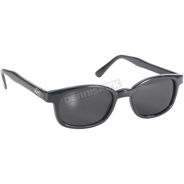 KDs Black X-KDs Sunglasses w/Dark Grey Lens - 1120