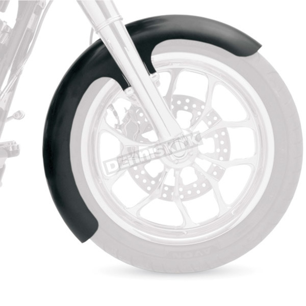 Klock Werks 21 in. Chrome Wrapper Tire Hugger Series Fit Kit Front Fender with Chrome Blocks - 1402-0312