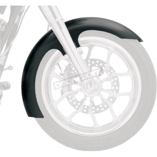 Klock Werks 21 in. Chrome Slicer Tire Hugger Series Fit Kit Front Fender with Chrome Blocks - 1402-0313
