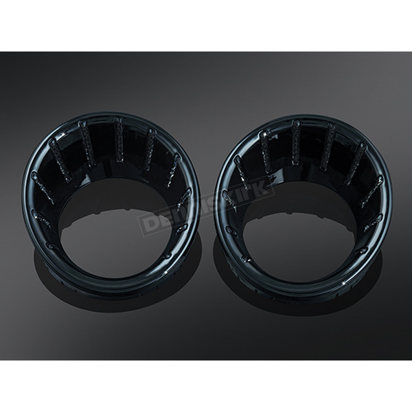 Kuryakyn Gloss Black Speedo and Tach Bezels w/Blue LED Lighting - 7288