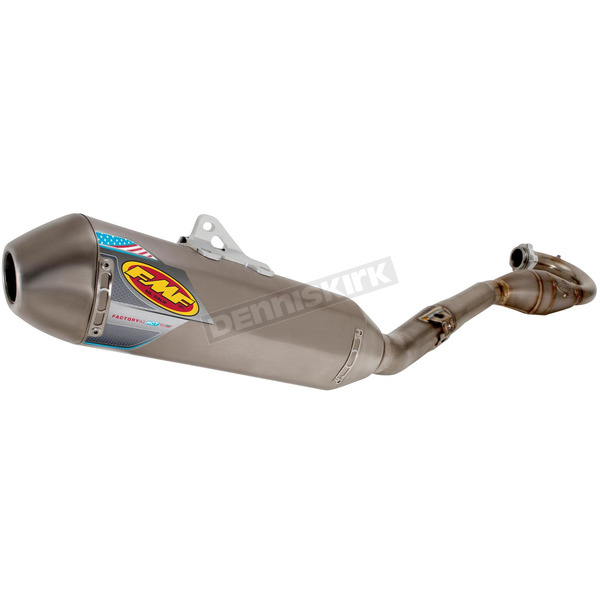 FMF RCT Natural Titanium Factory 4.1 System w/MegaBomb Header and Titanium Midpipe - 045487