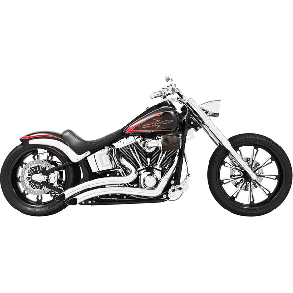 Freedom Performance Chrome Sharp Curve Radius Exhaust System - HD00210