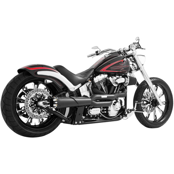 Freedom Performance Black American Outlaw High 2 into 1 Exhaust System - HD00297