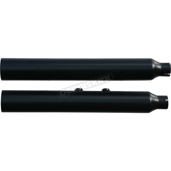 Rush Racing Products Black Straight Cut 3 in. Slip-On Mufflers w/2 in. Baffle - 27513-200