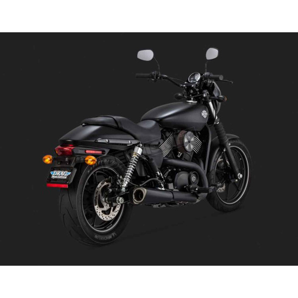 Vance & Hines Matte Black Competition Series Slip-Ons - 47937