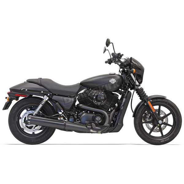 Bassani Black 4 in. Megaphone Style Performance Muffler - 1587RB