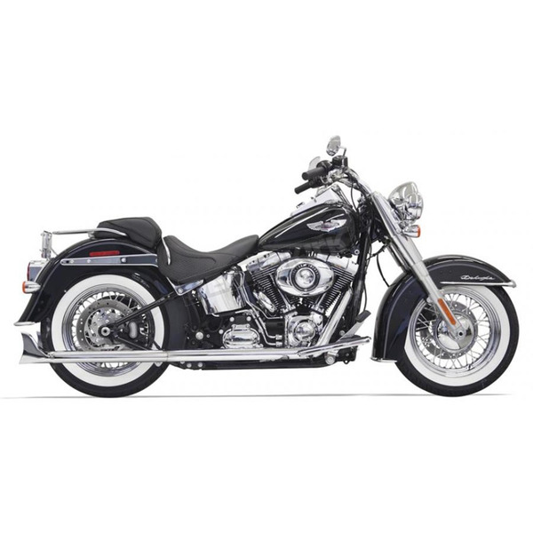 Bassani Chrome True Duals w/30 in. Fishtail Mufflers and No Baffles - 1S36E-30