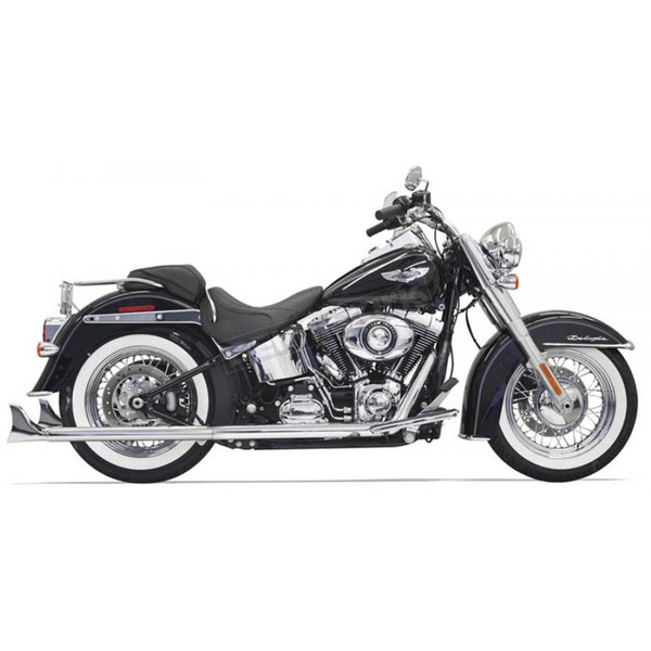 Bassani Chrome True Duals w/33 in. Fishtail Mufflers and No Baffles - 1S46E-33