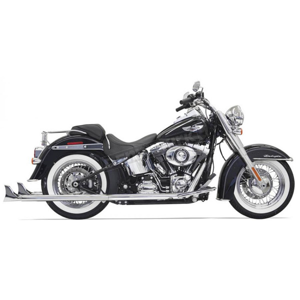 Bassani Chrome True Duals w/36 in. Fishtail Mufflers and Baffles - 1S56E-36