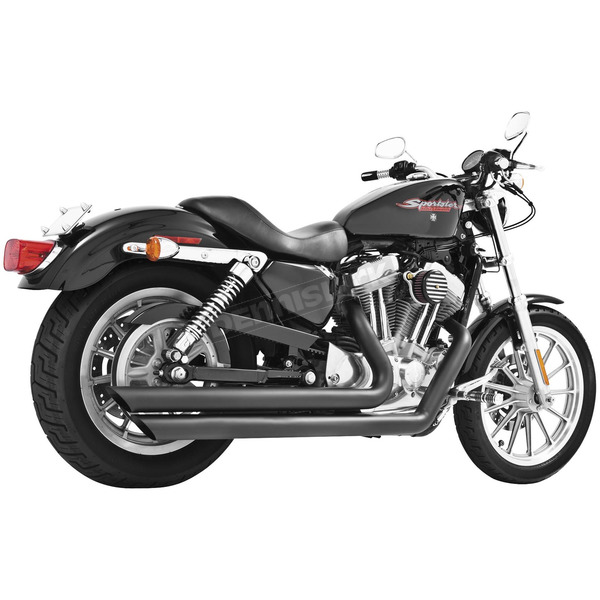 Freedom Performance Black Patriot Slash Down Long Exhaust System - HD00119