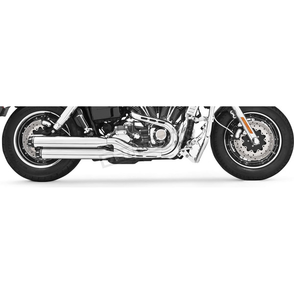 Chrome Signature Series Slip-On Mufflers with Black Tips - HD00192