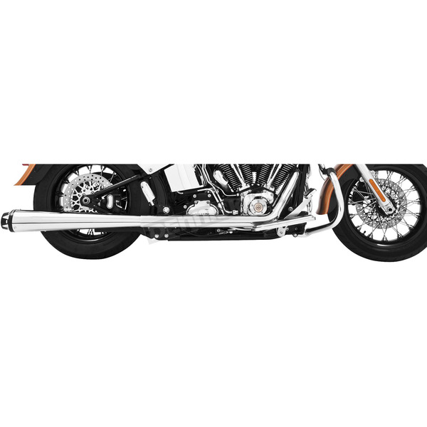 Freedom Performance Chrome American Outlaw Dual Exhaust System with Black Tips - HD00289