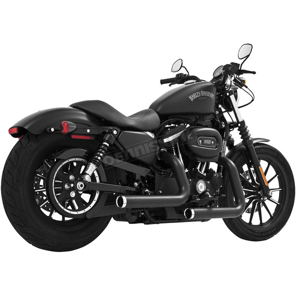 Freedom Performance Black Staggered Duals Exhaust System - HD00383