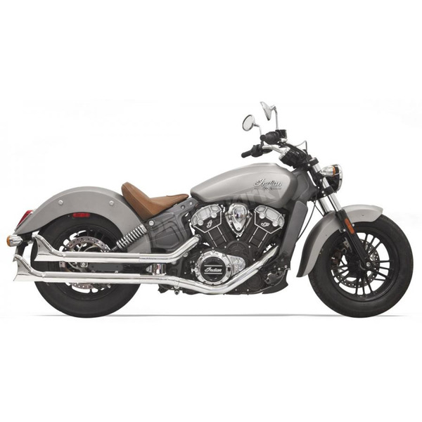 Bassani Xhaust Chrome 2 1/4 in. Fishtail Slip-On Mufflers - 8S17E