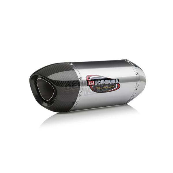 Yoshimura Stainless/Stainless/Carbon Fiber Race Alpha 3QTR Slip-on Muffler - 131414M520