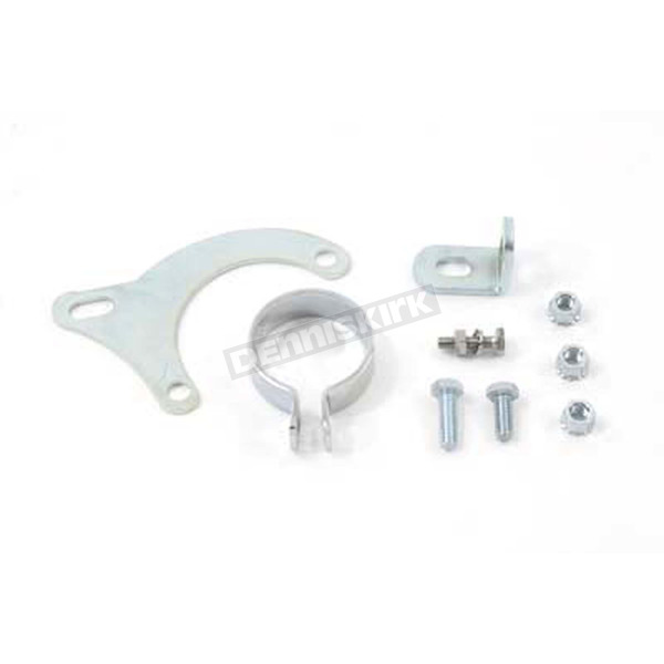V-Twin Manufacturing Chrome Exhaust Clamp and Bracket Set - 31-1069