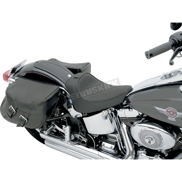 Drag Specialties Smooth Solo Seat w/Optional EZ Glide Backrest System - 0802-0632