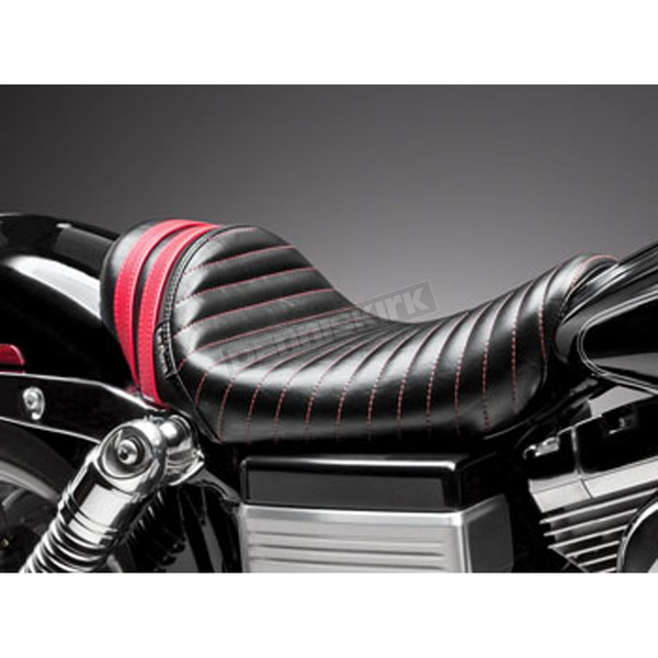 LePera Black Stubs Spoiler Seat w/Red Stripes - LK-411RED