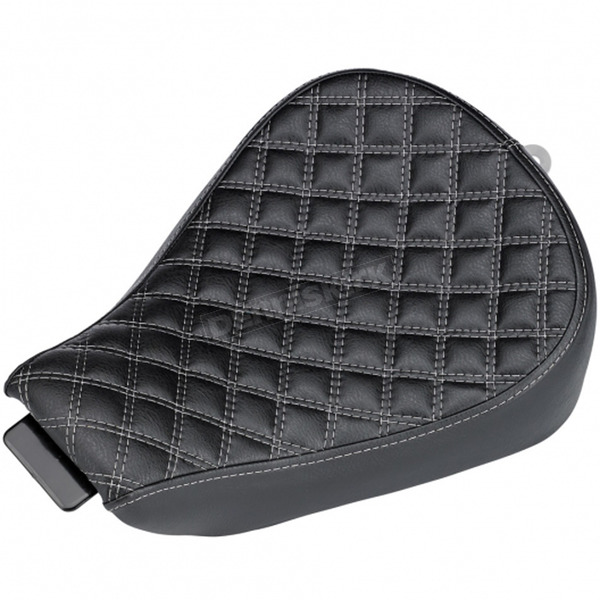 Biltwell Black Checkerboard Sporty-8 Seat  - S8-VIN-04-BD