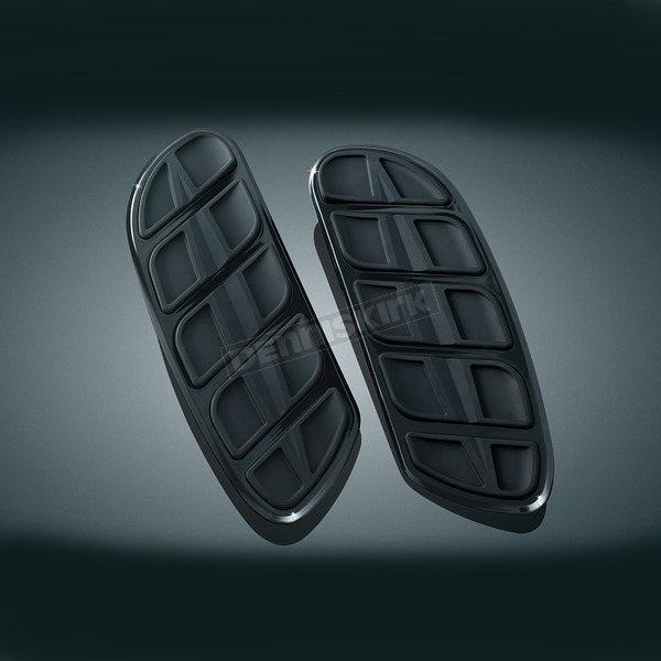 Kuryakyn Gloss Black Kinetic Swept Wing Driver Floorboard Inserts - 4397