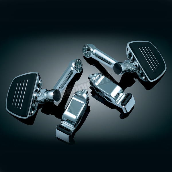 Kuryakyn Chrome Ergo II Cruise Mounts w/6 in. Arms and Premium Chrome/Black Mini Boards - 4078
