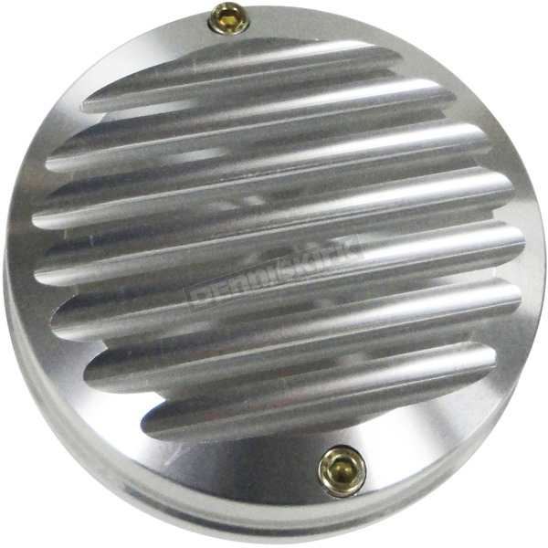 Joker Machine Clear Anodized Silver Finned Billet Points Cover - 12-090S