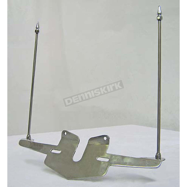 Rivco Stainless Steel License Plate Mounted Double Flag Holder - FH500