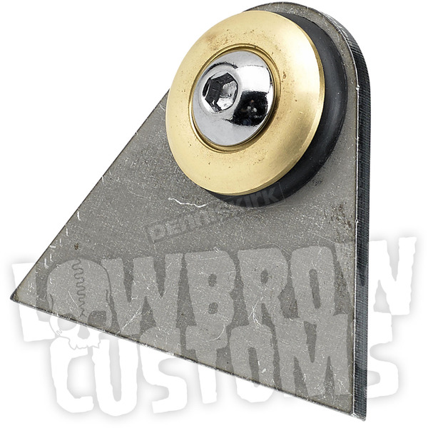 Lowbrow Customs Rubber Mount Weld-On Triangular Tab w/Brass Washer - 003371