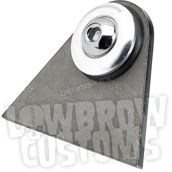 Lowbrow Customs Rubber Mount Weld-On Triangular Tab w/Stainless Washer - 003370