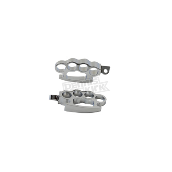 V-Twin Manufacturing Chrome Male Mount Knuckle Footpegs - 27-0621