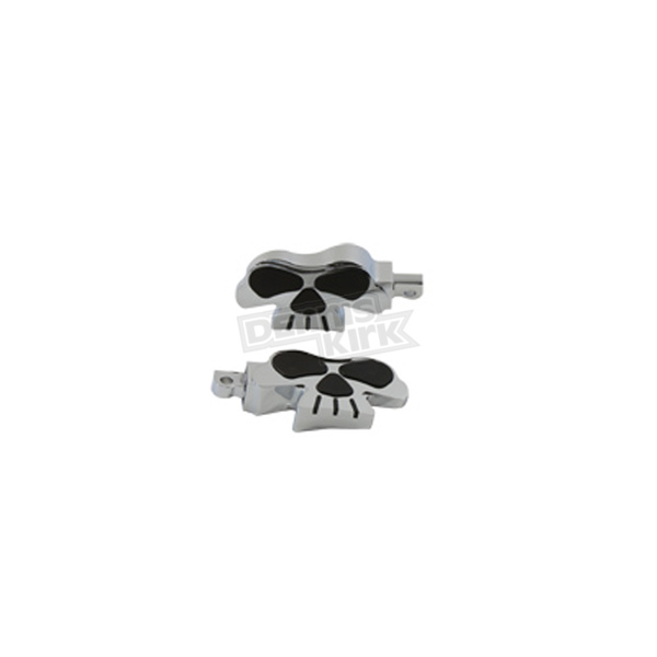 V-Twin Manufacturing Chrome Skull Footpegs - 27-0694