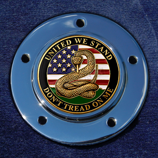 Motordog69 Max 1.8  Timing Cover Coin Mount With Don't Tread On Me 2-Sided Coin - JMPC-M-5- DTOM