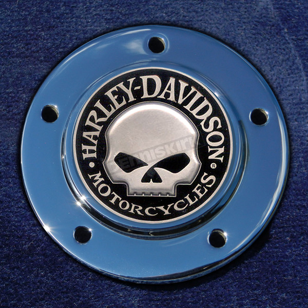 Motordog69 Max 1.8  Timing Cover Coin Mount With Harley Skull 2-Sided Coin - JMPC-M-5-HSKULL