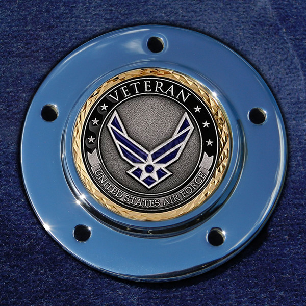 Motordog69 Max 1.8  Timing Cover Coin Mount With Veteran US Air Force 2-Sided Coin - JMPC-M-5-VAIRFOR