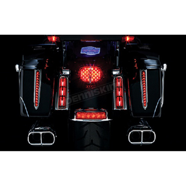 Kuryakyn Chrome Saddlebag Inserts w/Red LED Lights  - 5054