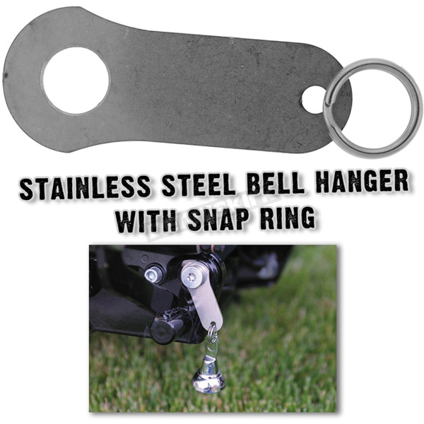 Hot Leathers Stainless Steel Bell Hanger with Snap Ring - BEH1001