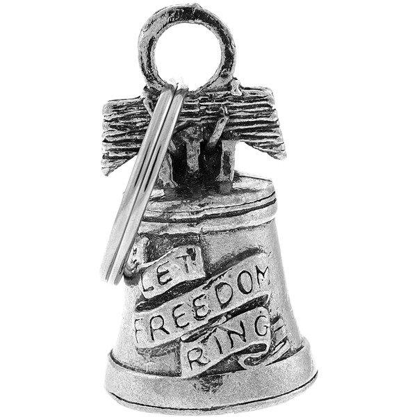 Hot Leathers Pewter Liberty Guardian Bell - BEA1031
