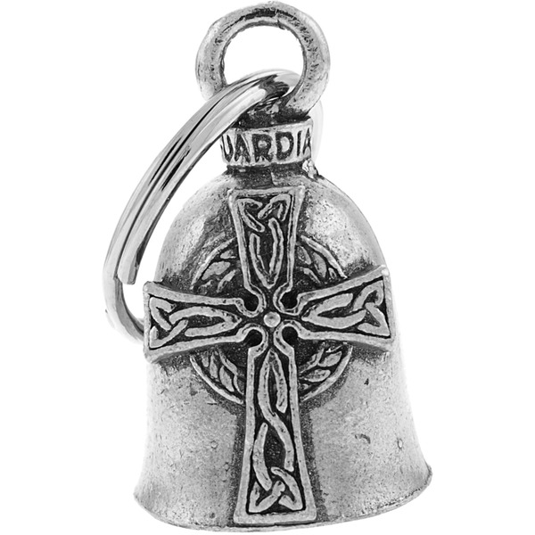 Hot Leathers Pewter Celtic Cross Guardian Bell - BEA1053