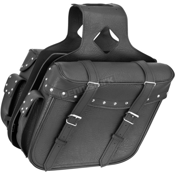 River Road Studded Large Slant Momentum Saddlebags - 10-9011