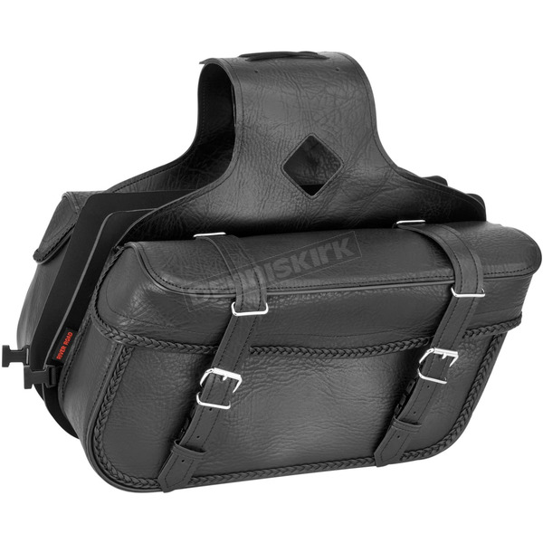 River Road Braided Medium Slant Momentum Saddlebags - 10-9009